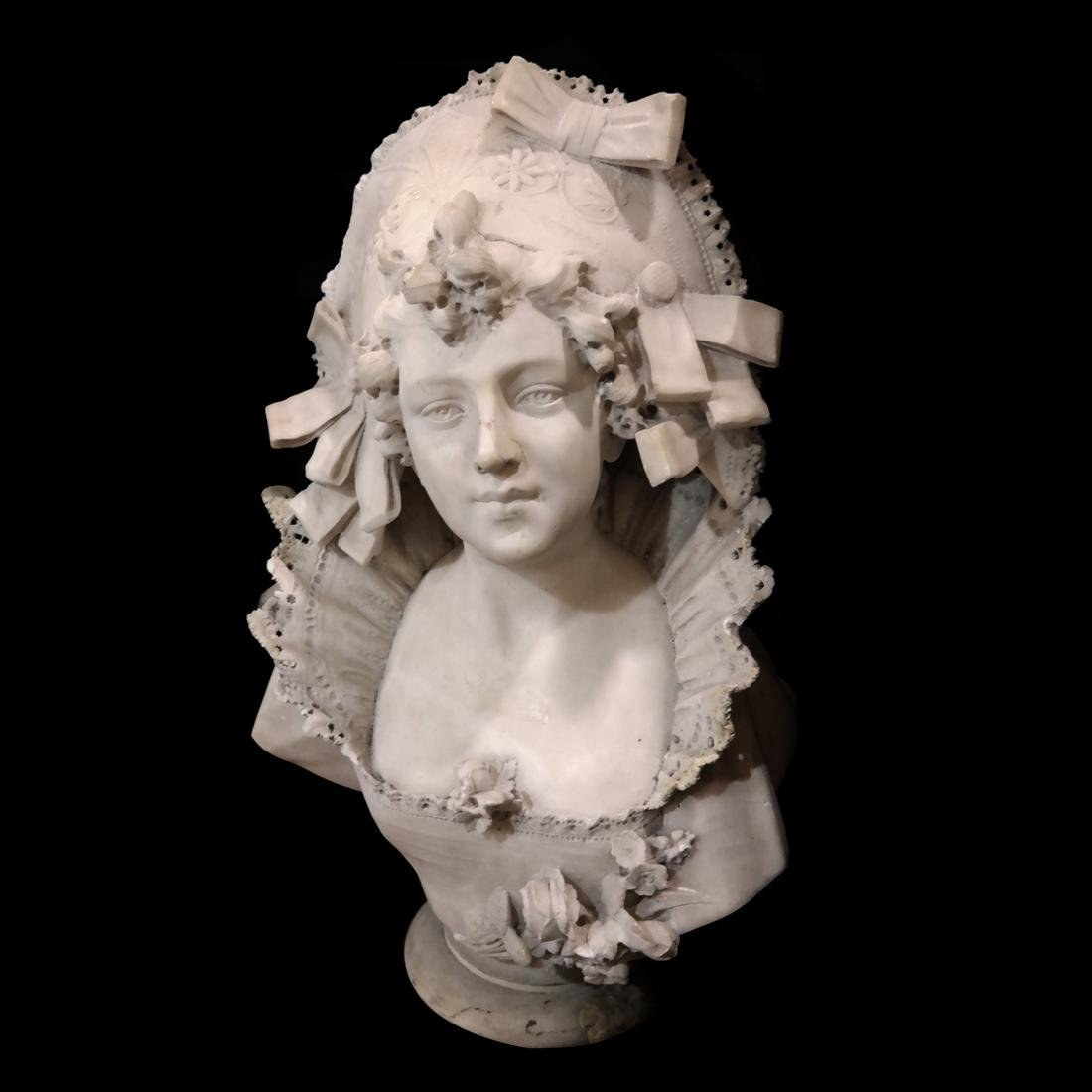 Vichi, 19th Century Marble Female Bust