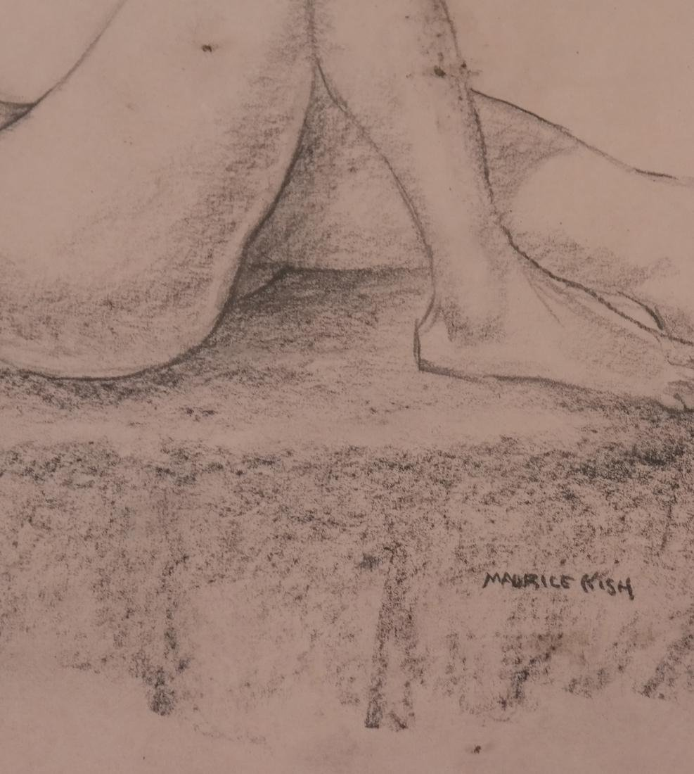 Maurice Kish, Female Nude - Oil on Board - 3