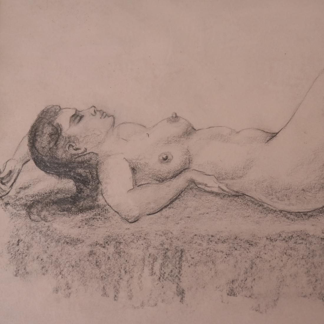 Maurice Kish, Female Nude - Oil on Board - 4