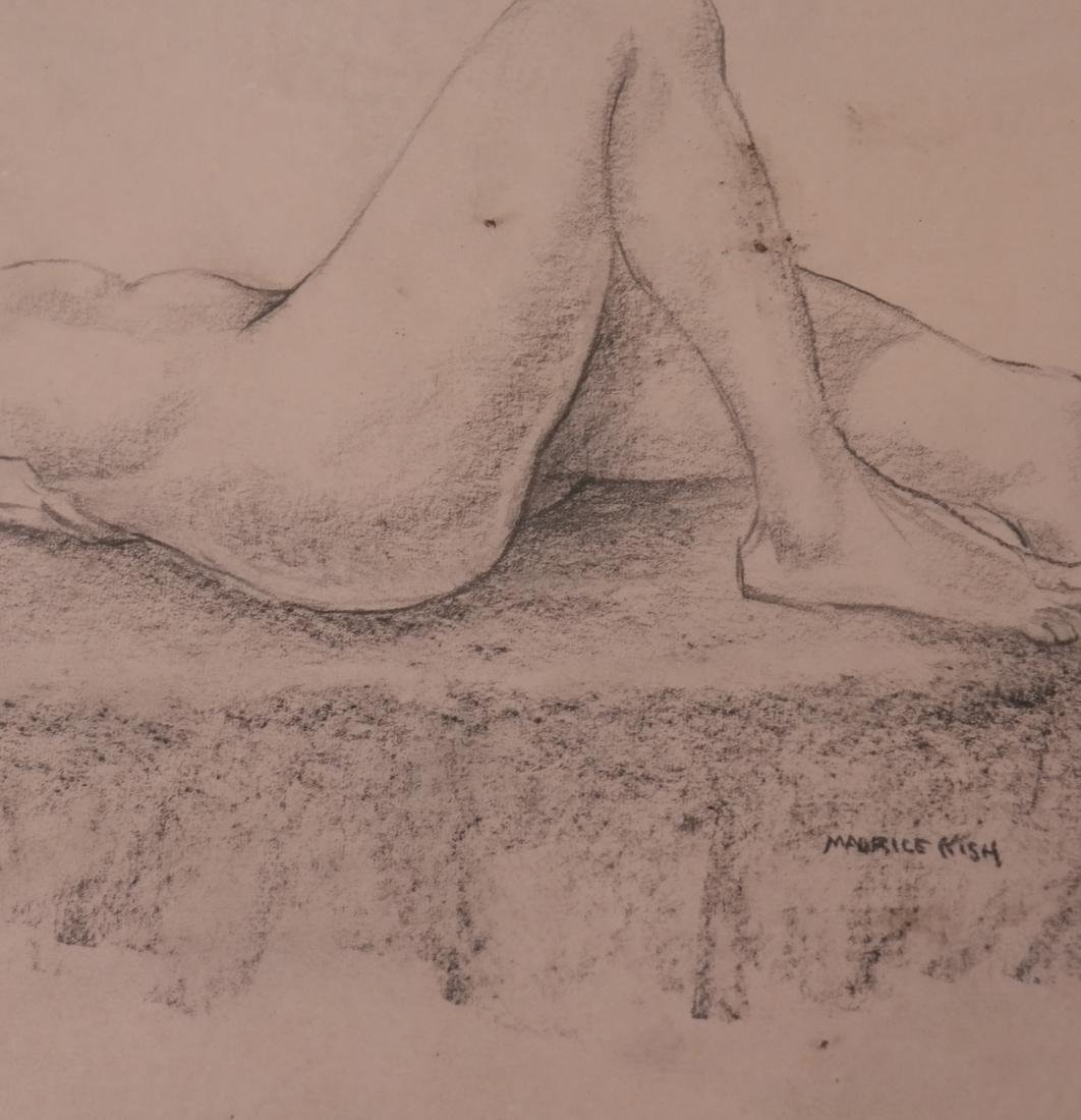 Maurice Kish, Female Nude - Oil on Board - 5
