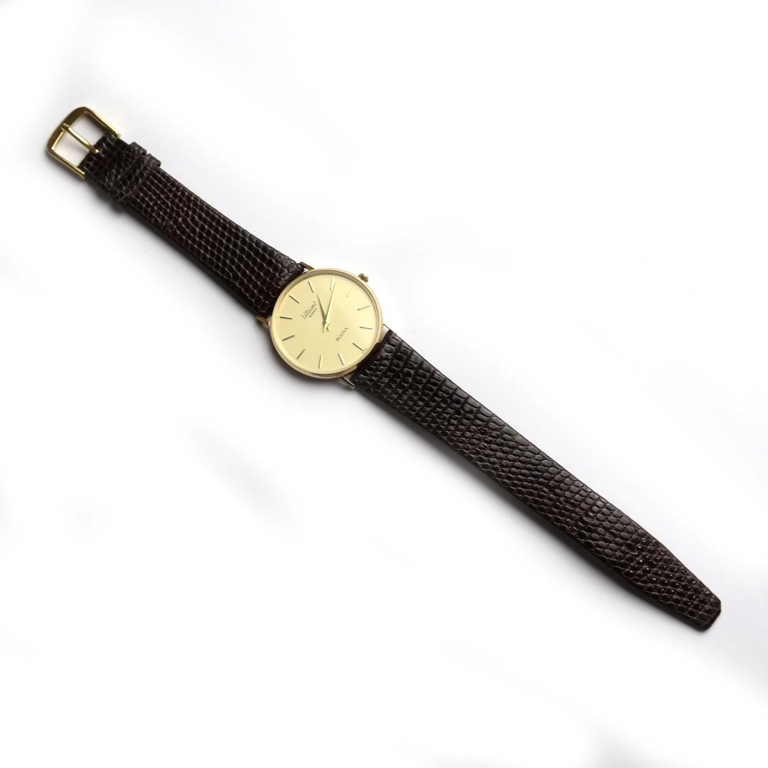 14k Gold Bulova Men's Watch