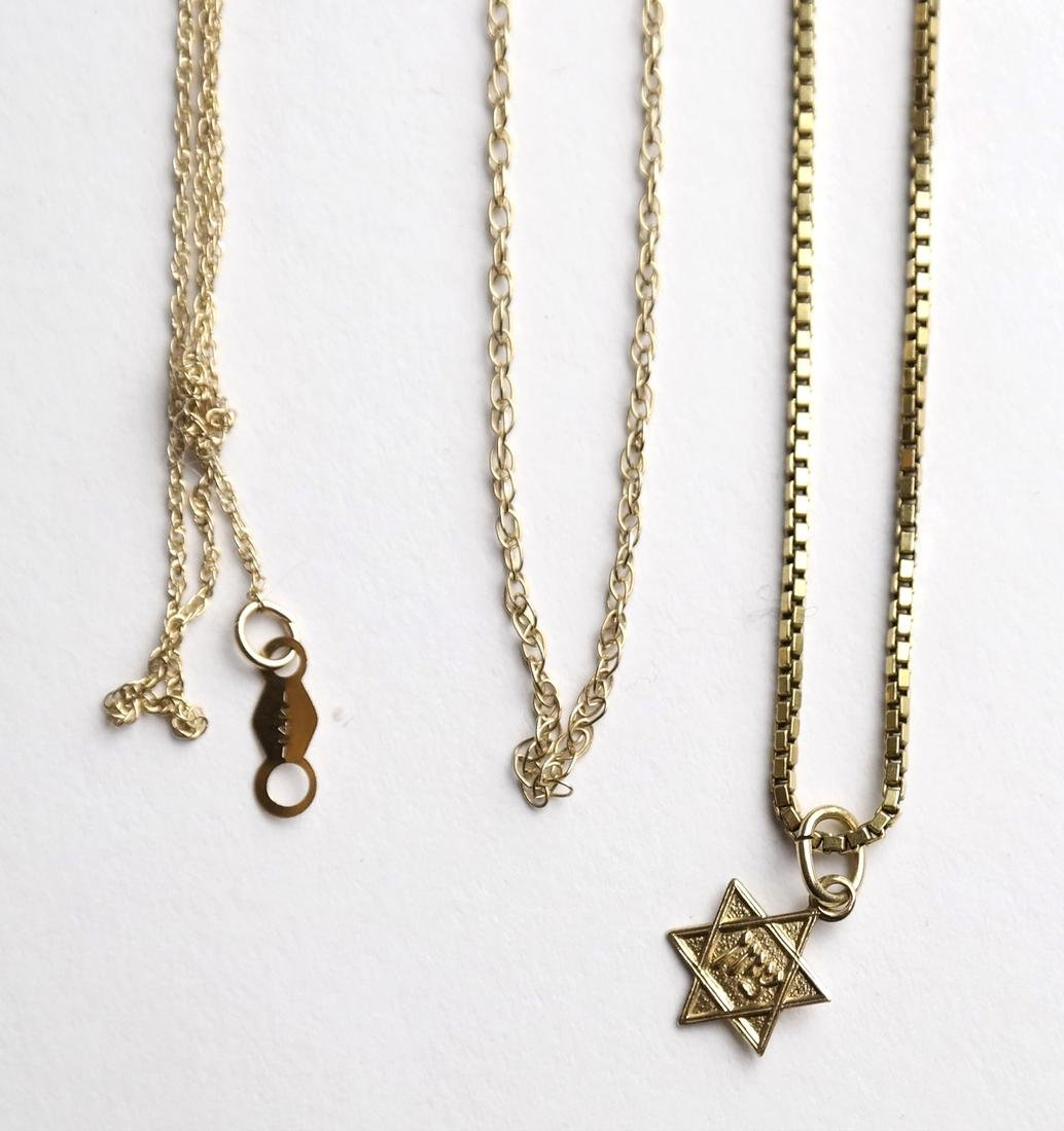 Five 14k Yellow Gold Chains - 2