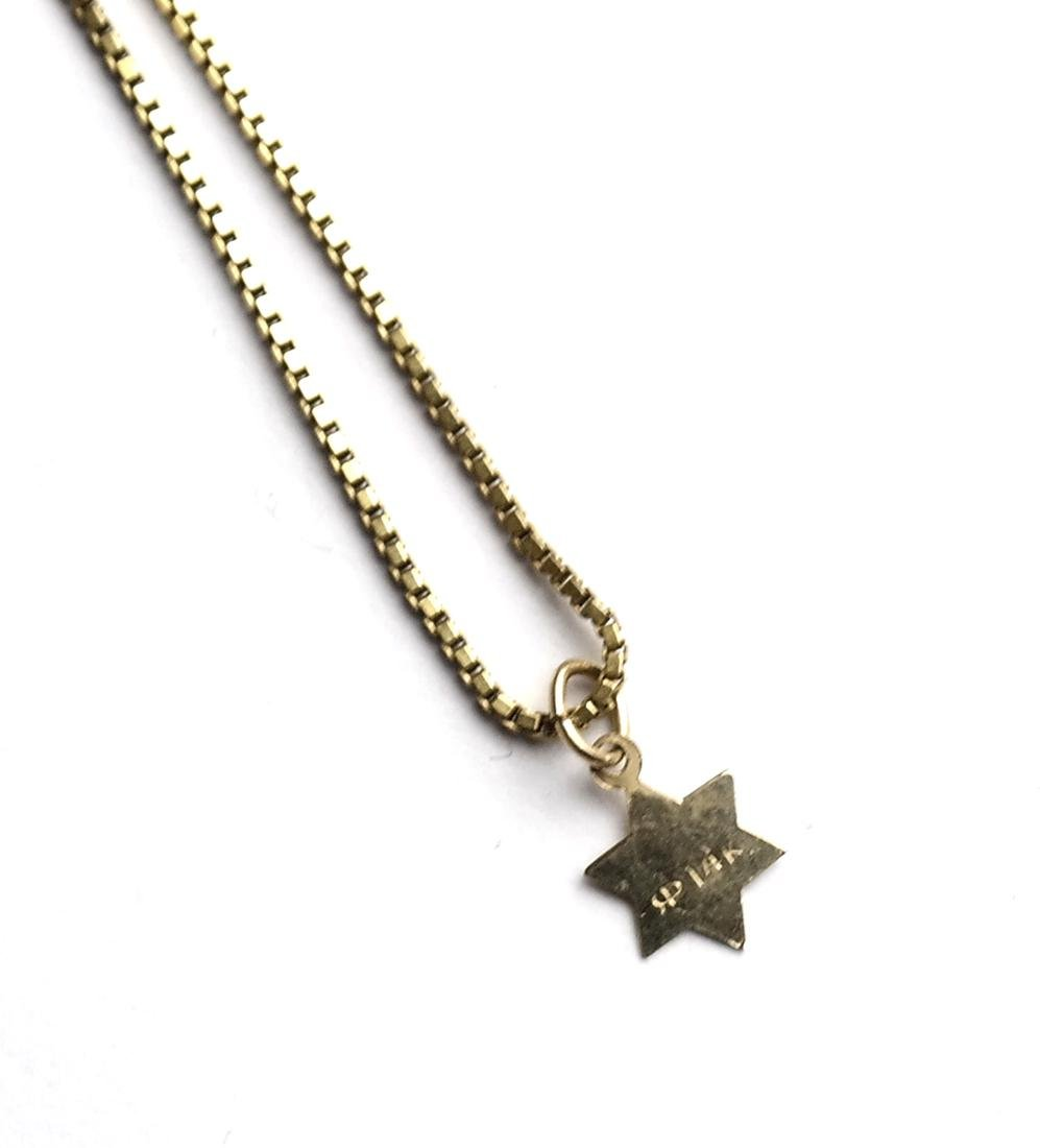 Five 14k Yellow Gold Chains - 7