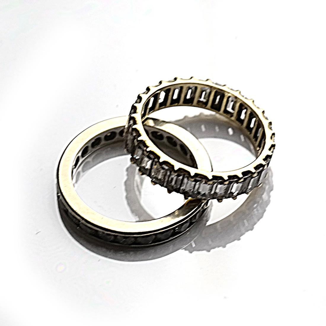 Two 14k Gold Wedding Bands