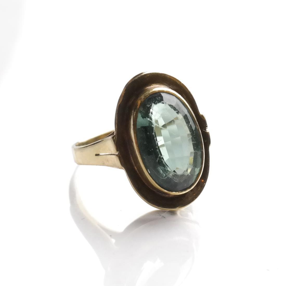 Art Deco Tourmaline Ring