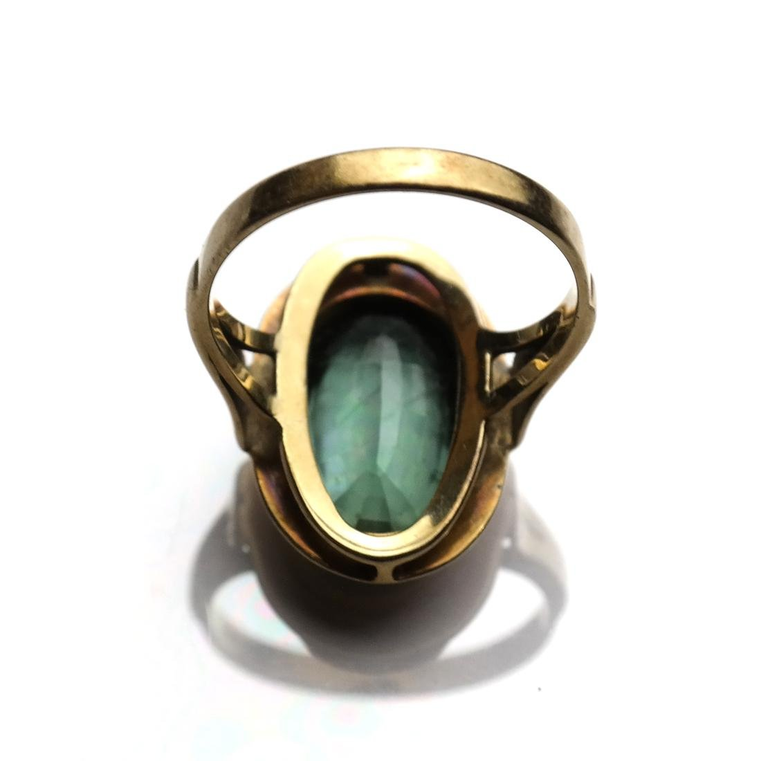 Art Deco Tourmaline Ring - 3