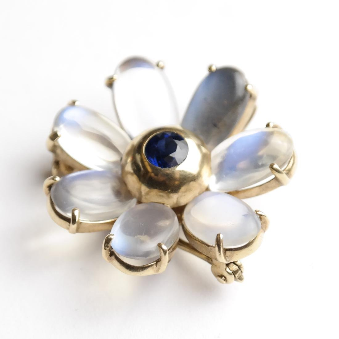 14k Gold Pin With Blue Sapphire - 2