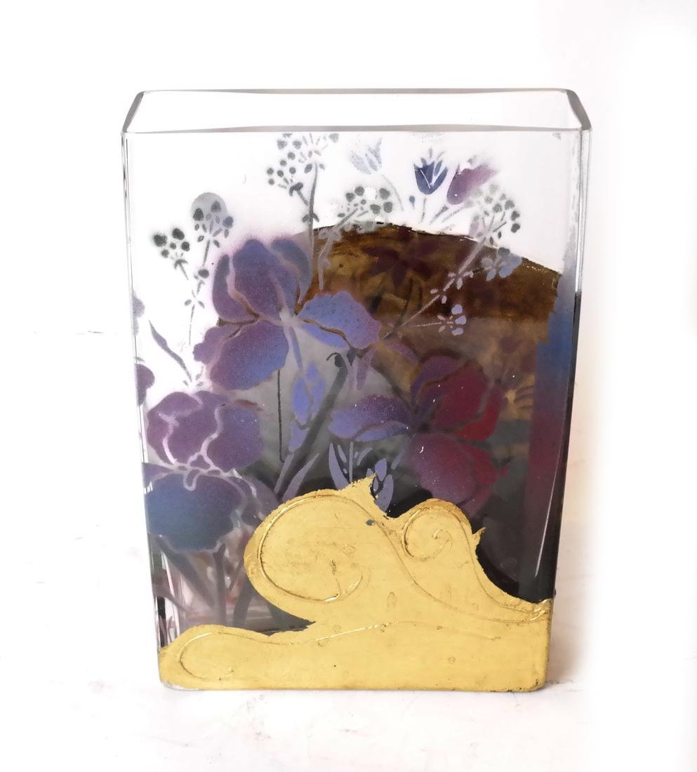 Contemporary Decorated Glass Vase - 4
