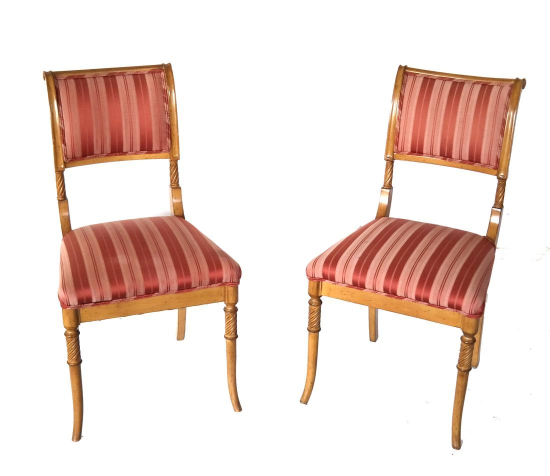 Set of Eight Regency-Style Dining Chairs - 2