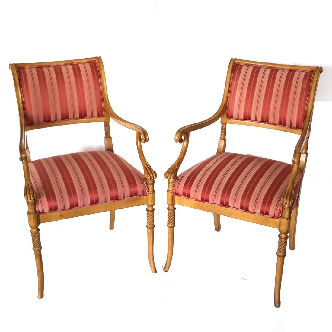 Set of Eight Regency-Style Dining Chairs - 6