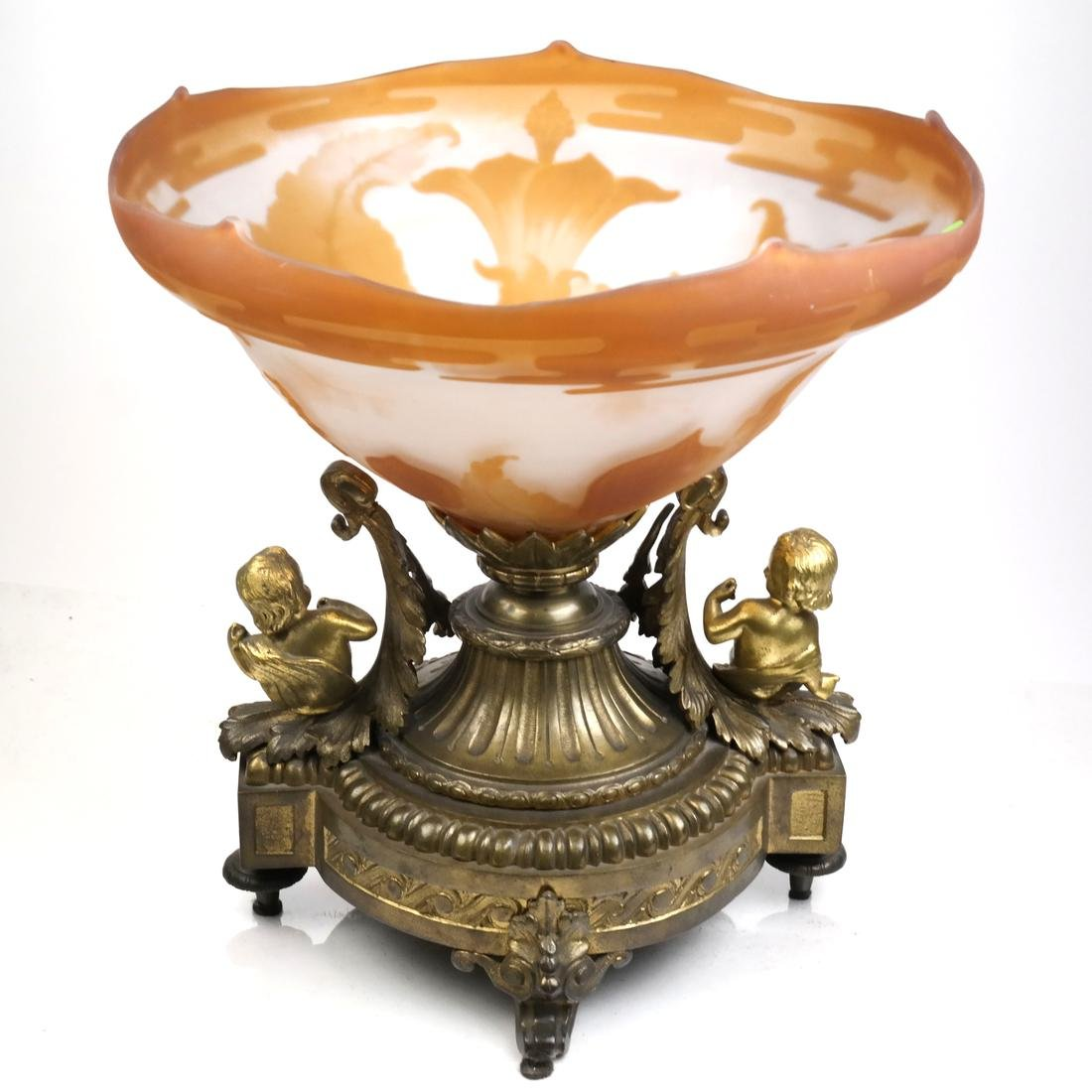 French-Style Art Glass Centerpiece - 2
