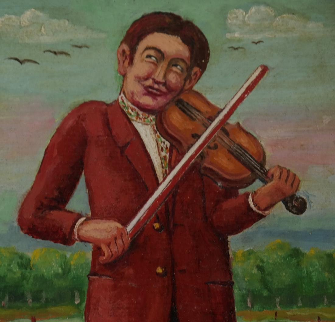 "Maurice Kish, ""The Open Air Fiddler"" - Oil on Board - 4"