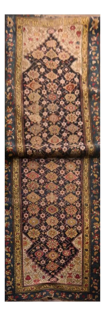 Floral Decorated Hamadan Runner