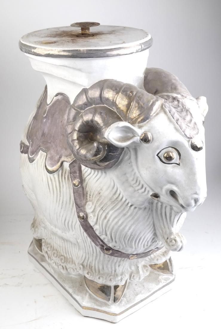 Ram-Form Ceramic Garden Seat