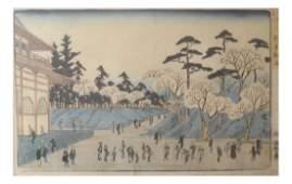 "Ando Hiroshige ""Uene Toeizan"" - Woodblock"