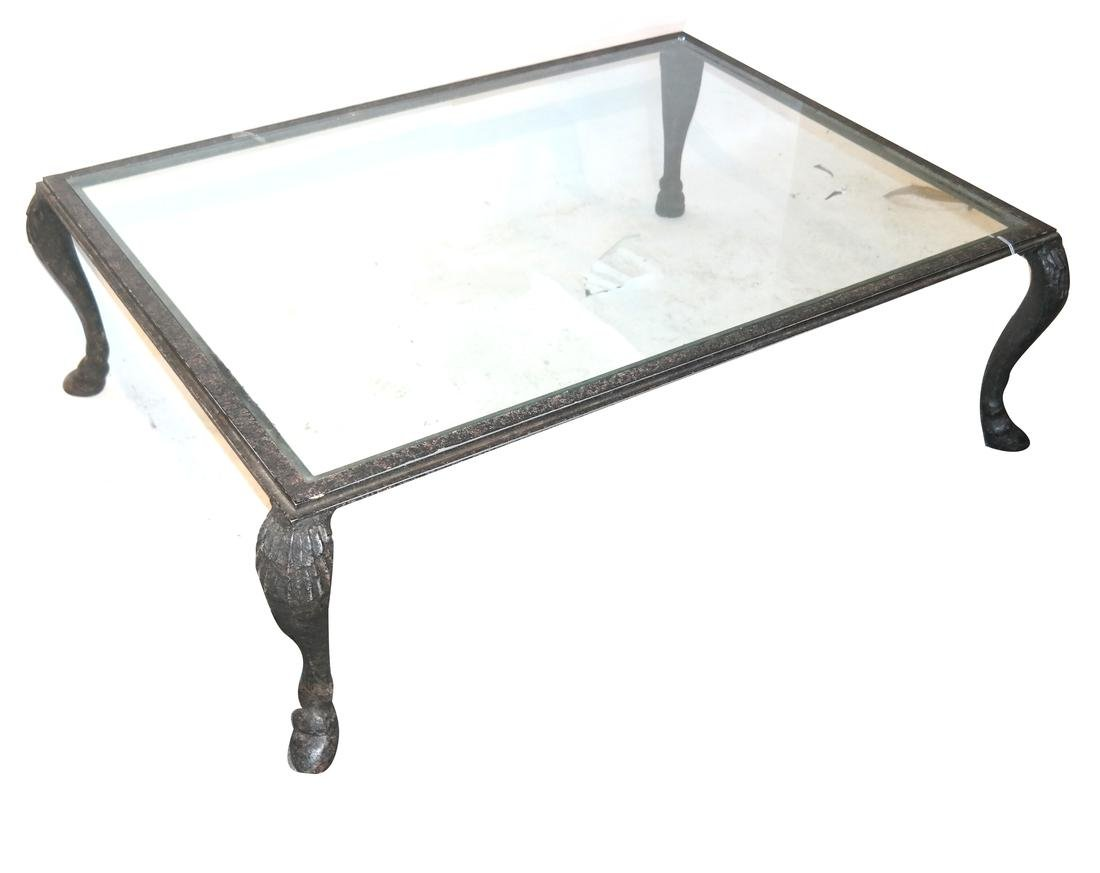 Iron Decorated Hoof-Foot Coffee Table