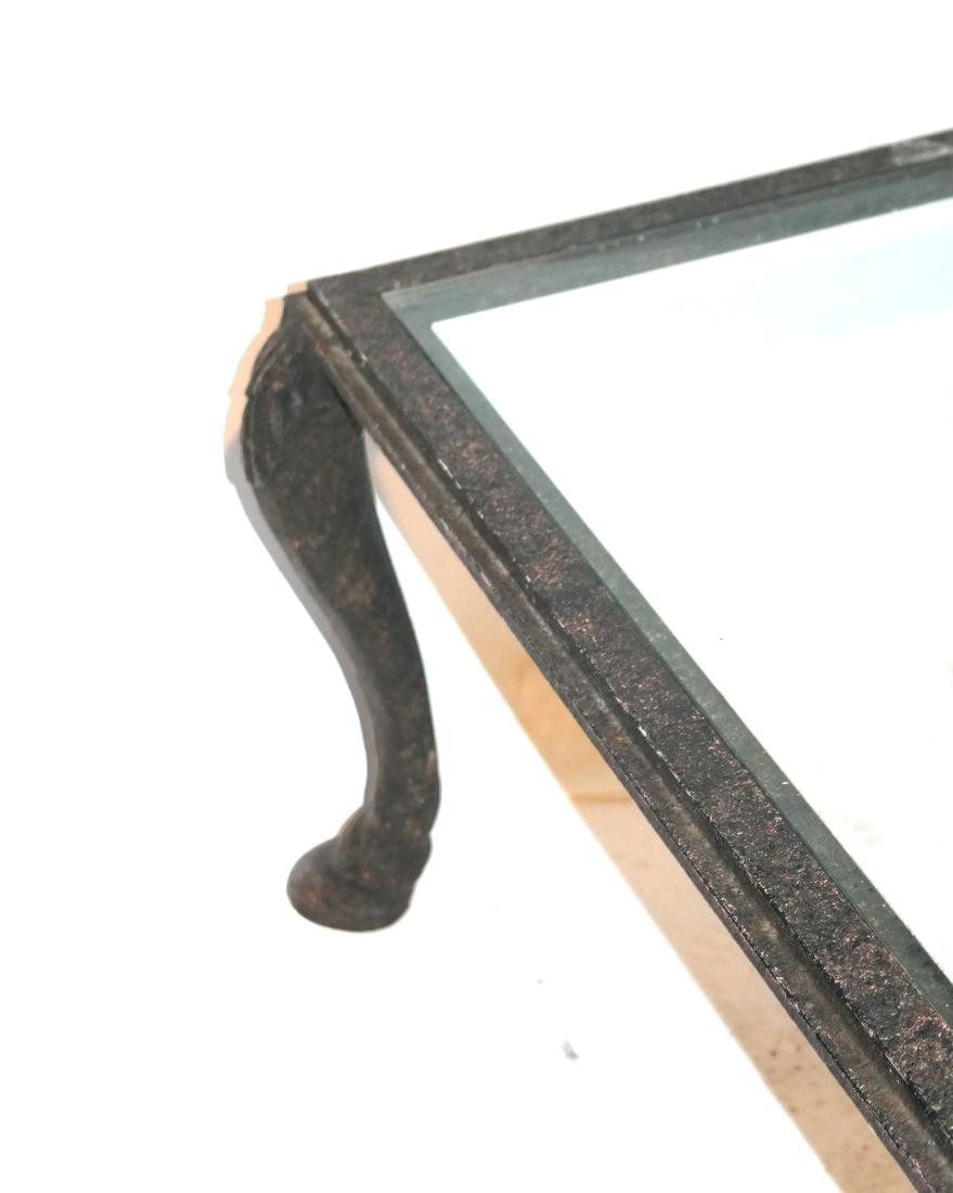 Iron Decorated Hoof-Foot Coffee Table - 2