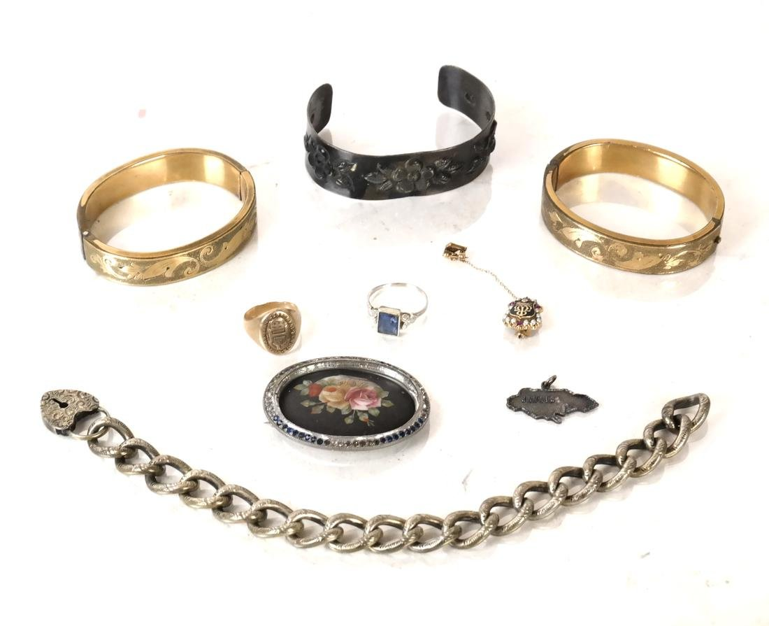 Assorted Jewelry; 14k Ring, 10k Ring, Silver, More