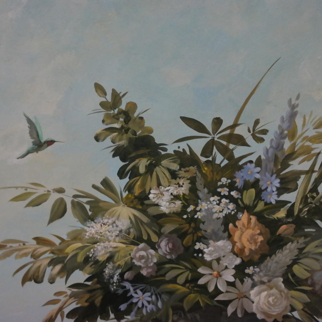 """Decorative Painted Wood Panel - Signed """"Riseborough"""" - 4"""