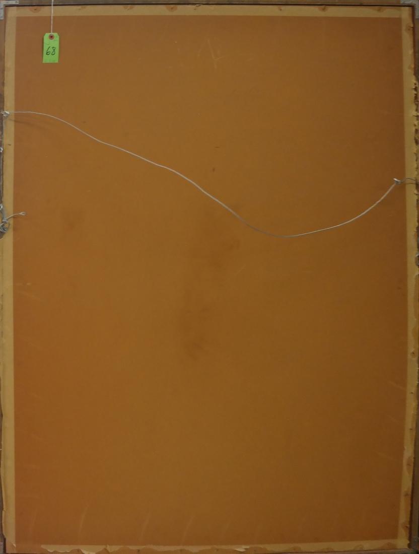 """Decorative Painted Wood Panel - Signed """"Riseborough"""" - 7"""