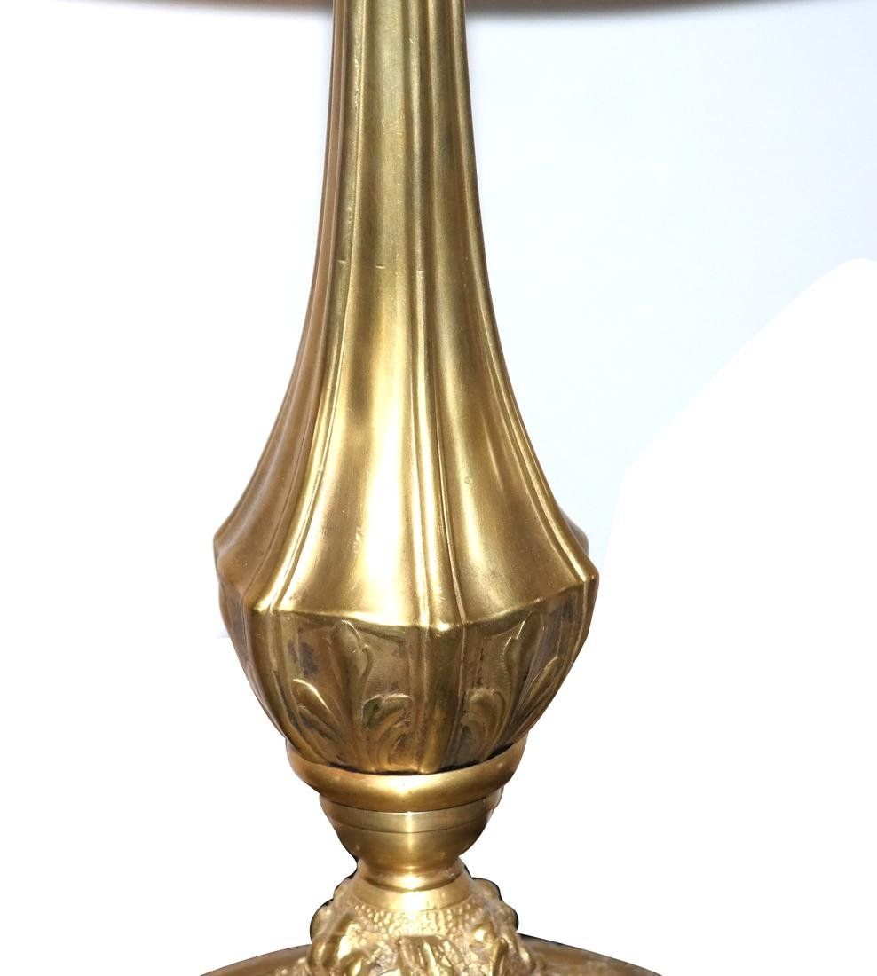 Beaux Arts Cast Bronze Table Lamp and Shade - 3