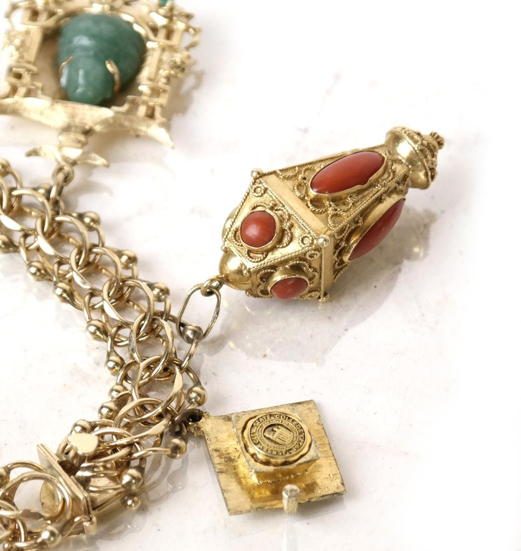 14k Yellow Gold Charm Bracelet - 2