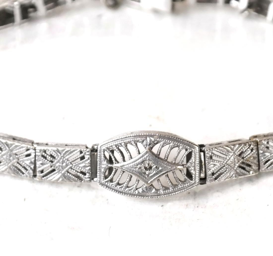 14k Art Deco Bracelet - 2