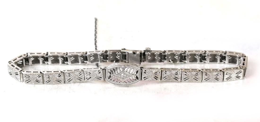 14k Art Deco Bracelet - 4
