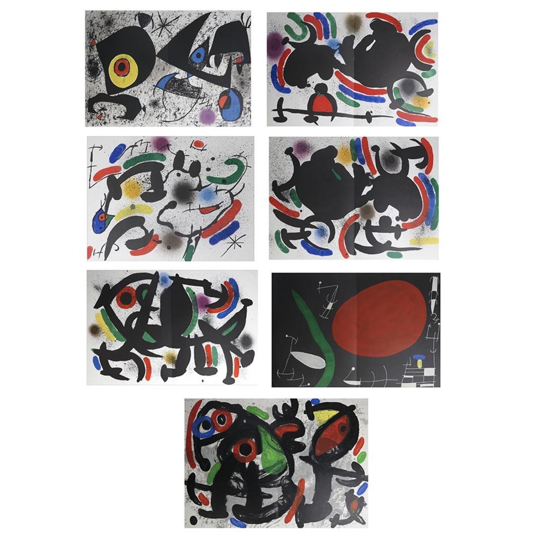 Joan Miro (1893-1983) 5 Lithographs