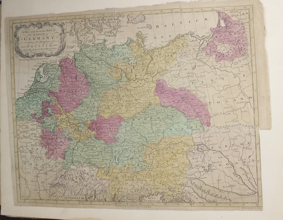 Ephemera: Folio of Maps, Antique Book Frontpieces, more - 2