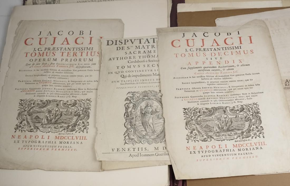 Ephemera: Folio of Maps, Antique Book Frontpieces, more - 4
