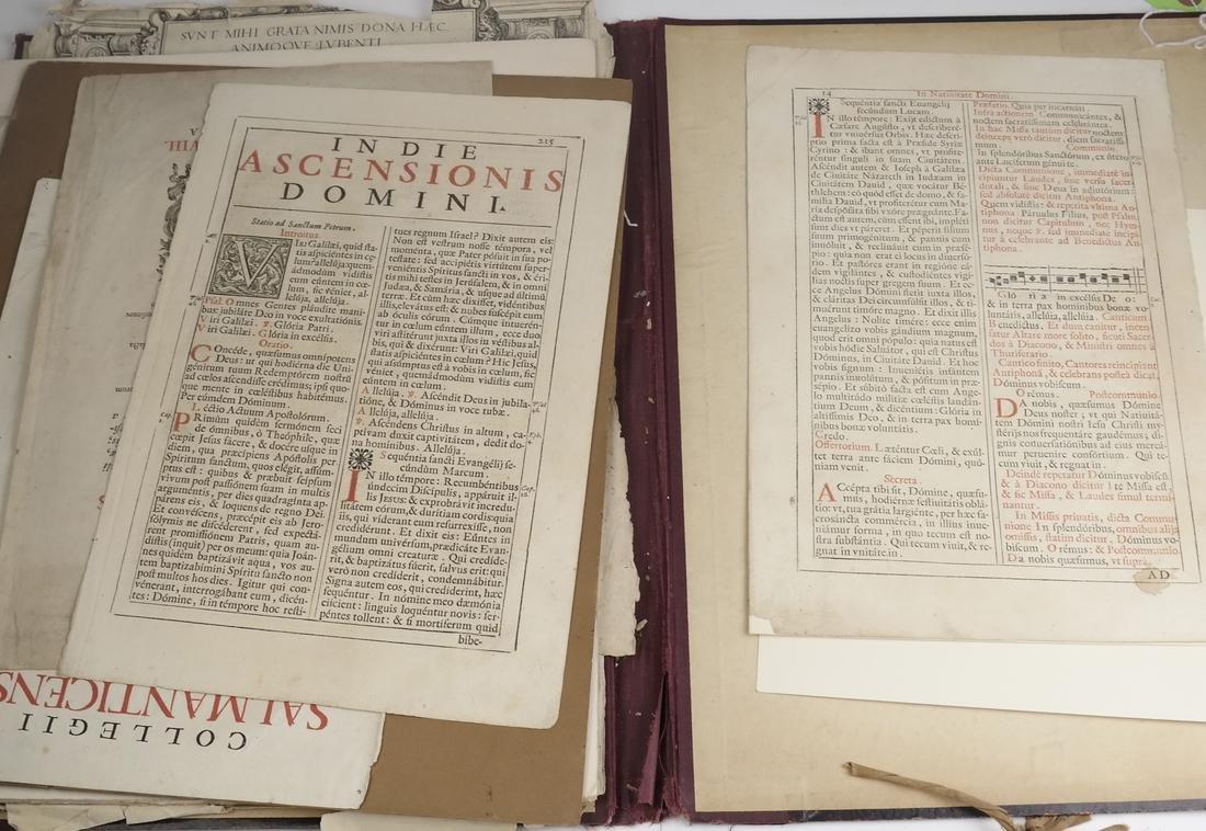 Ephemera: Folio of Maps, Antique Book Frontpieces, more - 5