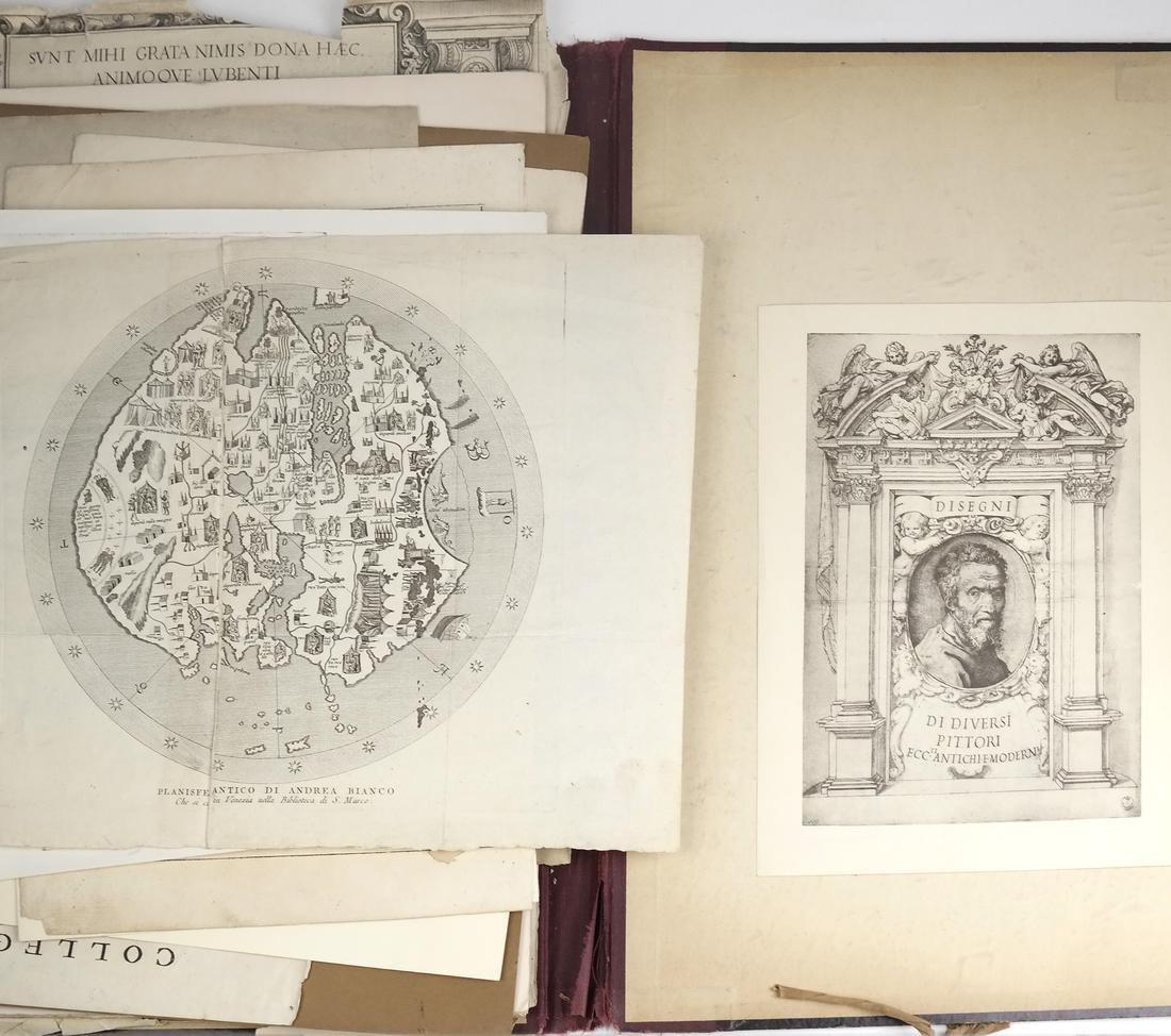 Ephemera: Folio of Maps, Antique Book Frontpieces, more - 6