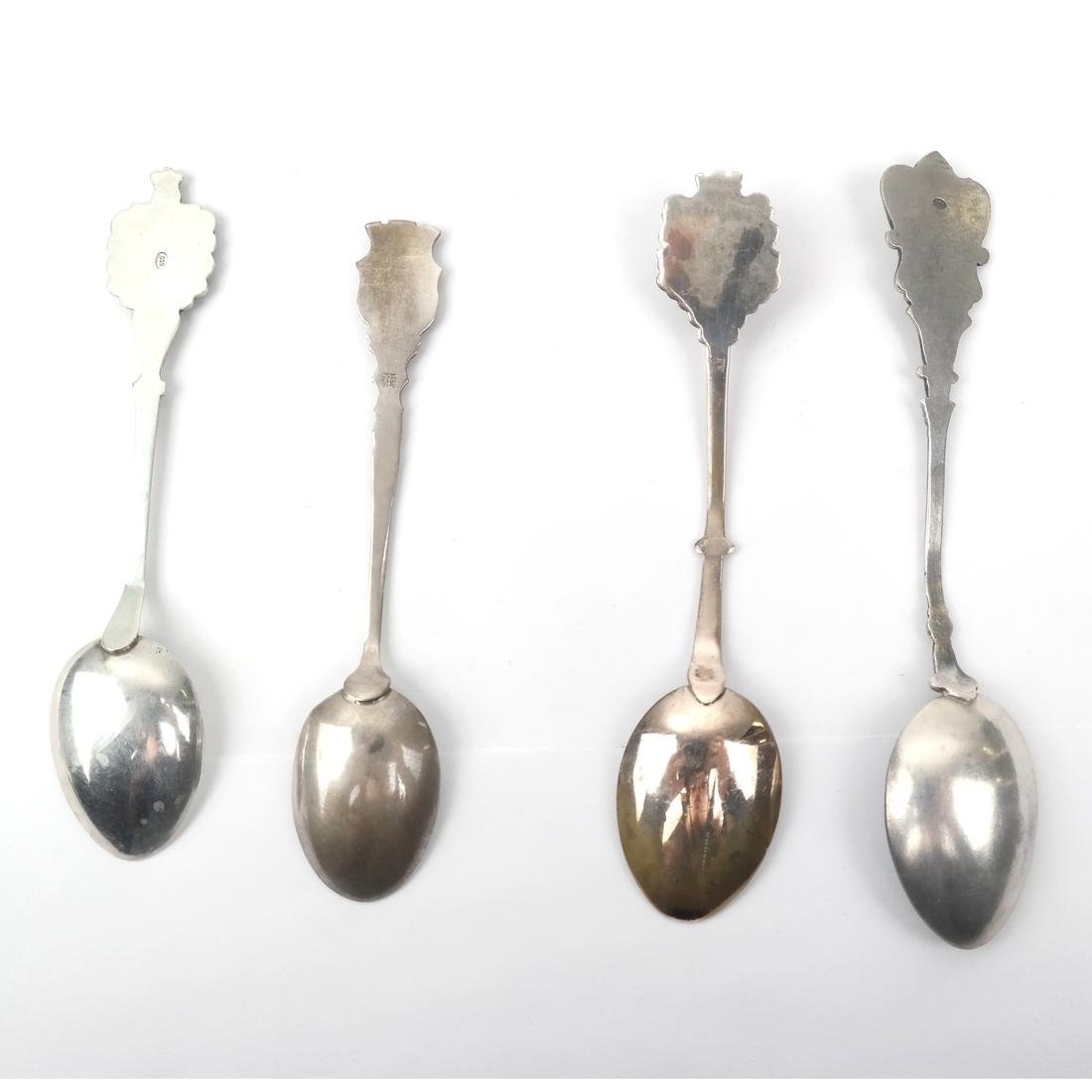 12 European .800 and .900 Silver Spoons - 3