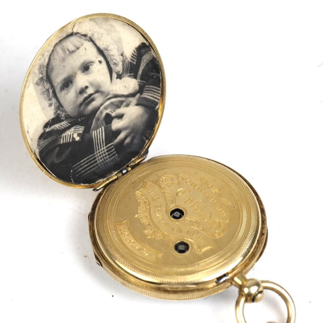 14k Yellow Gold Pocket Watch - 4