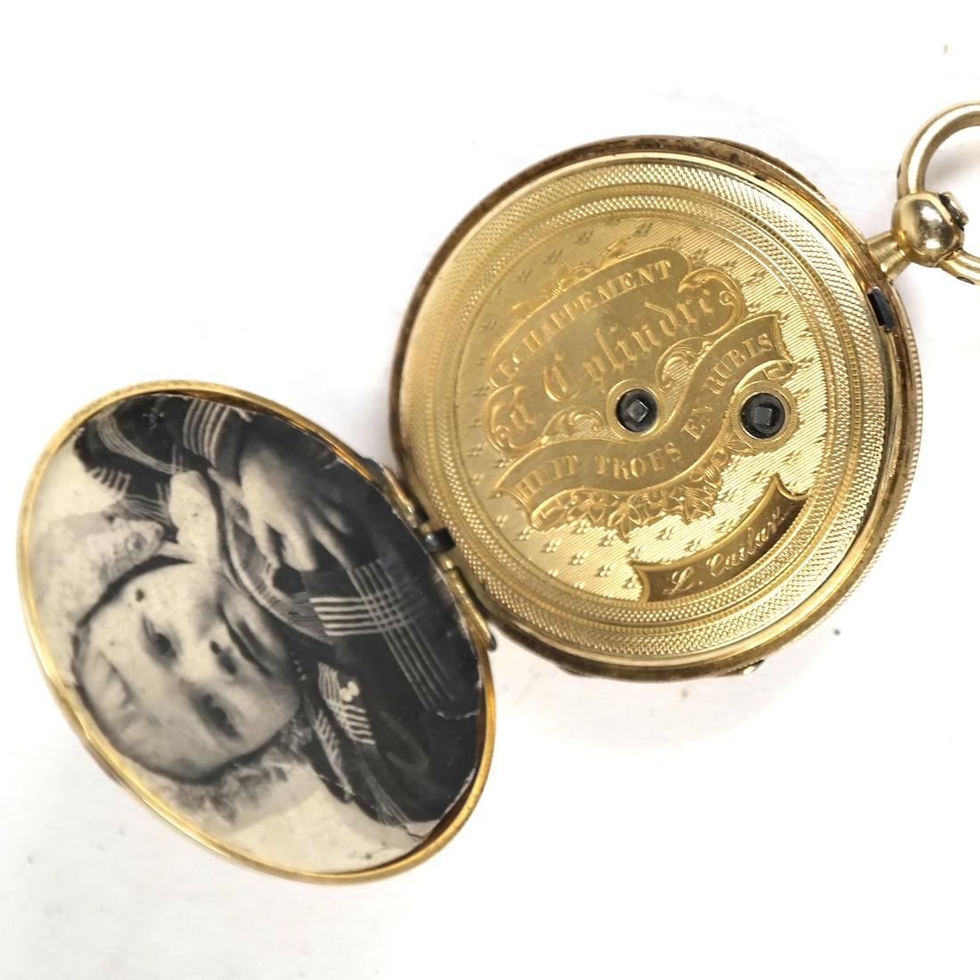 14k Yellow Gold Pocket Watch - 5