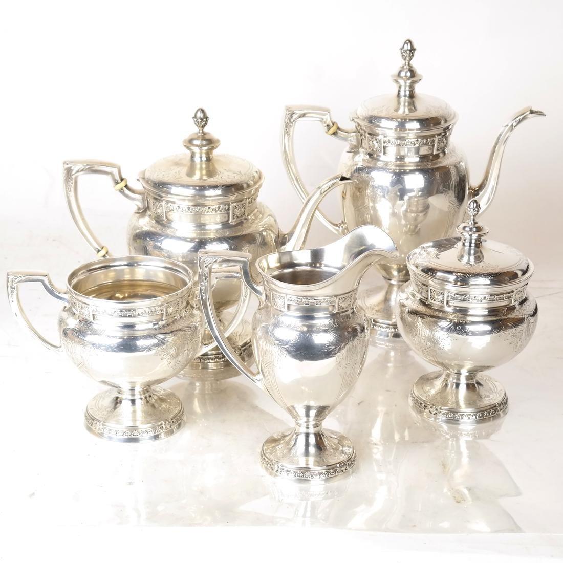 5-Piece Sterling Silver Tea Service