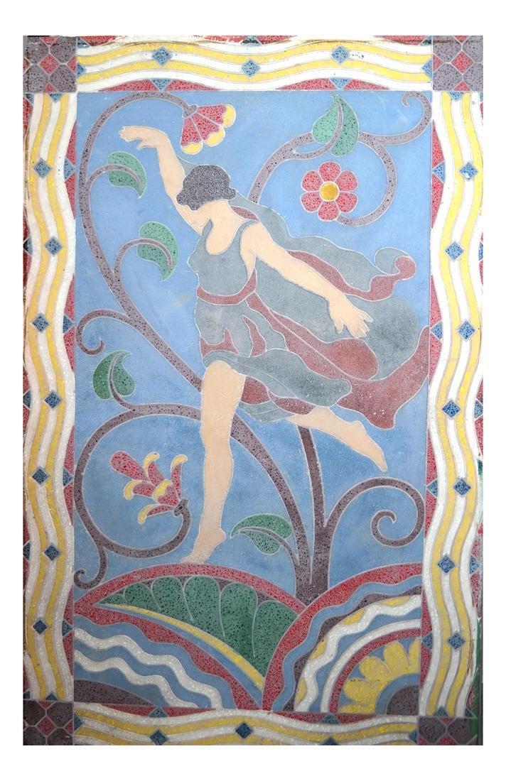 Art Deco-Style Relief, Female Dancer
