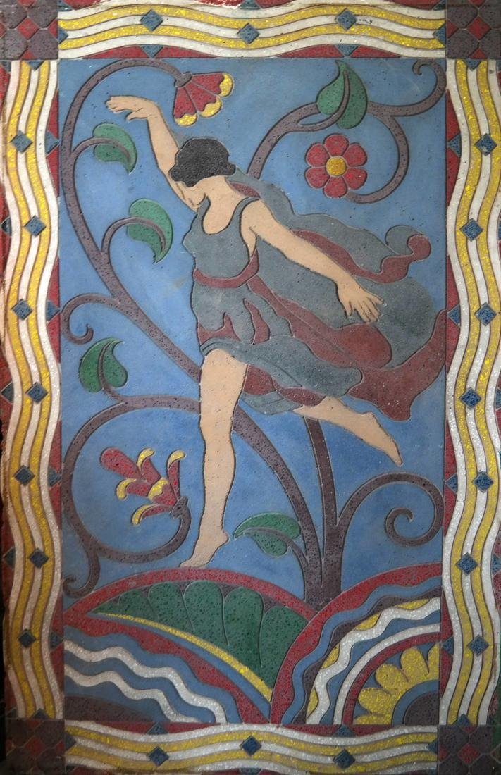 Art Deco-Style Relief, Female Dancer - 2
