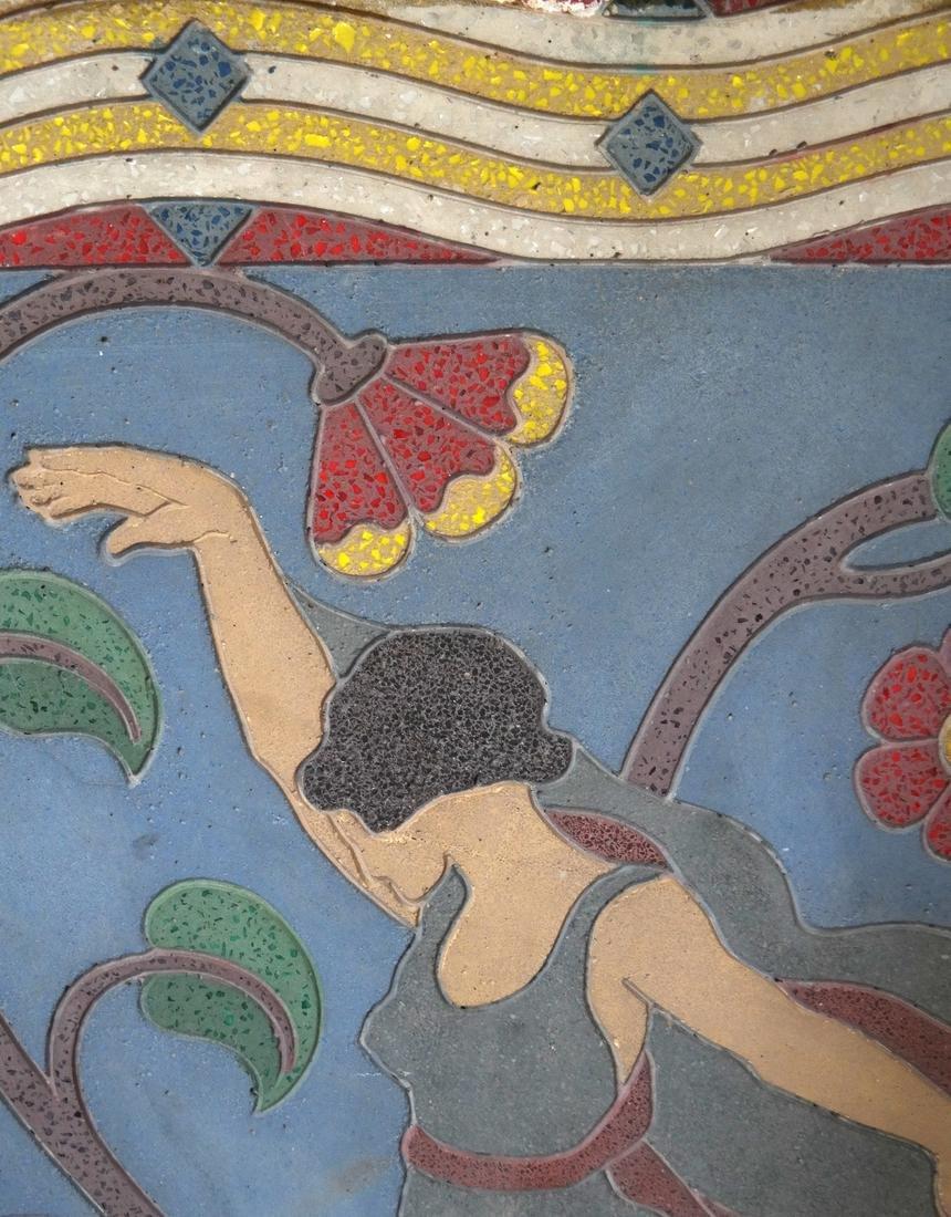 Art Deco-Style Relief, Female Dancer - 3