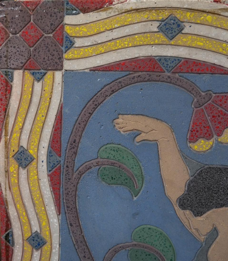 Art Deco-Style Relief, Female Dancer - 4