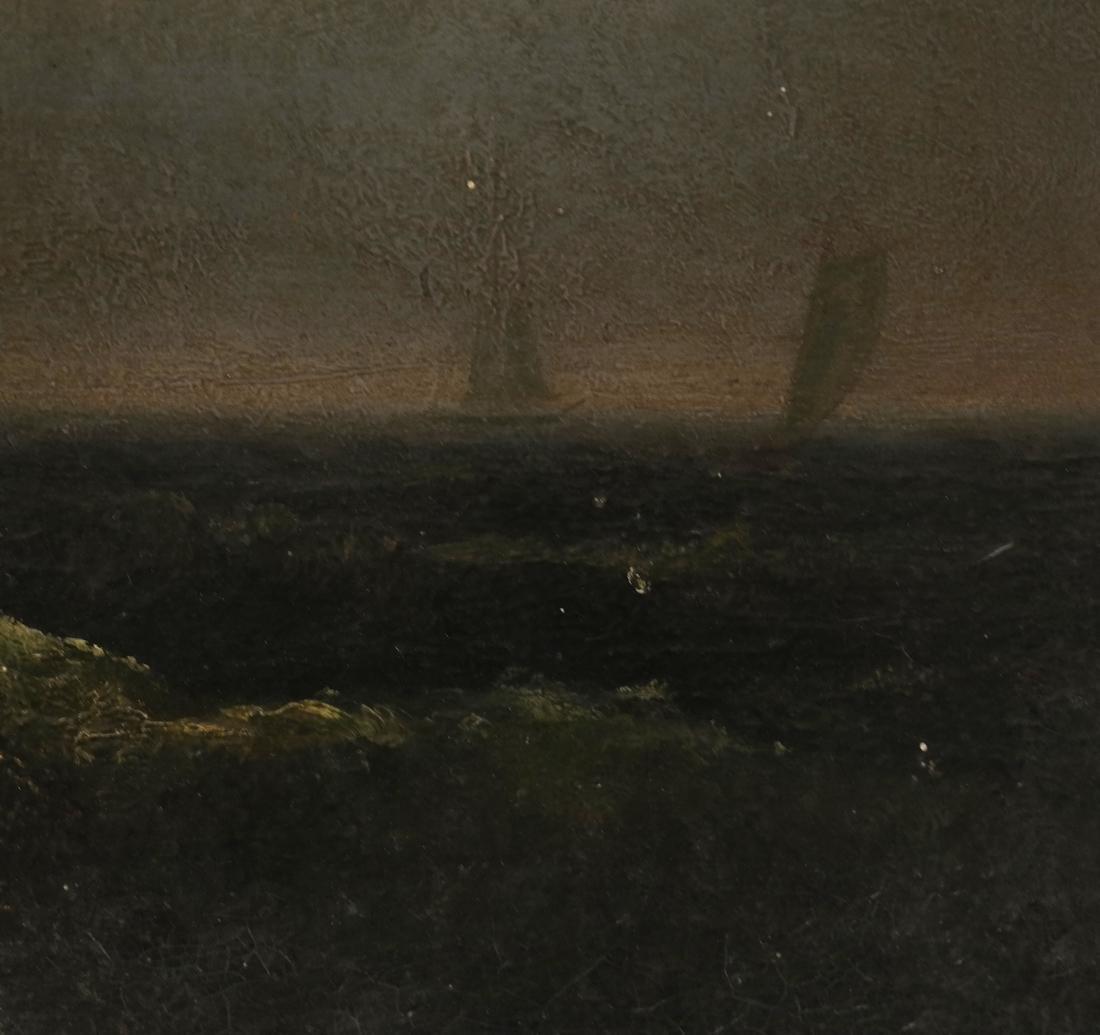 Oil on Panel, Stormy Seas - 4