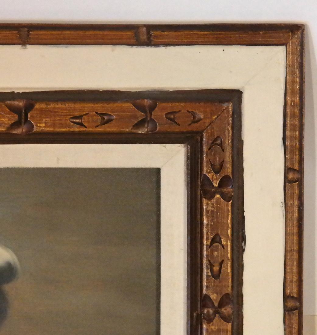 Acrylic on Canvas - A Sea Captain - Carved Wood Frame - 4