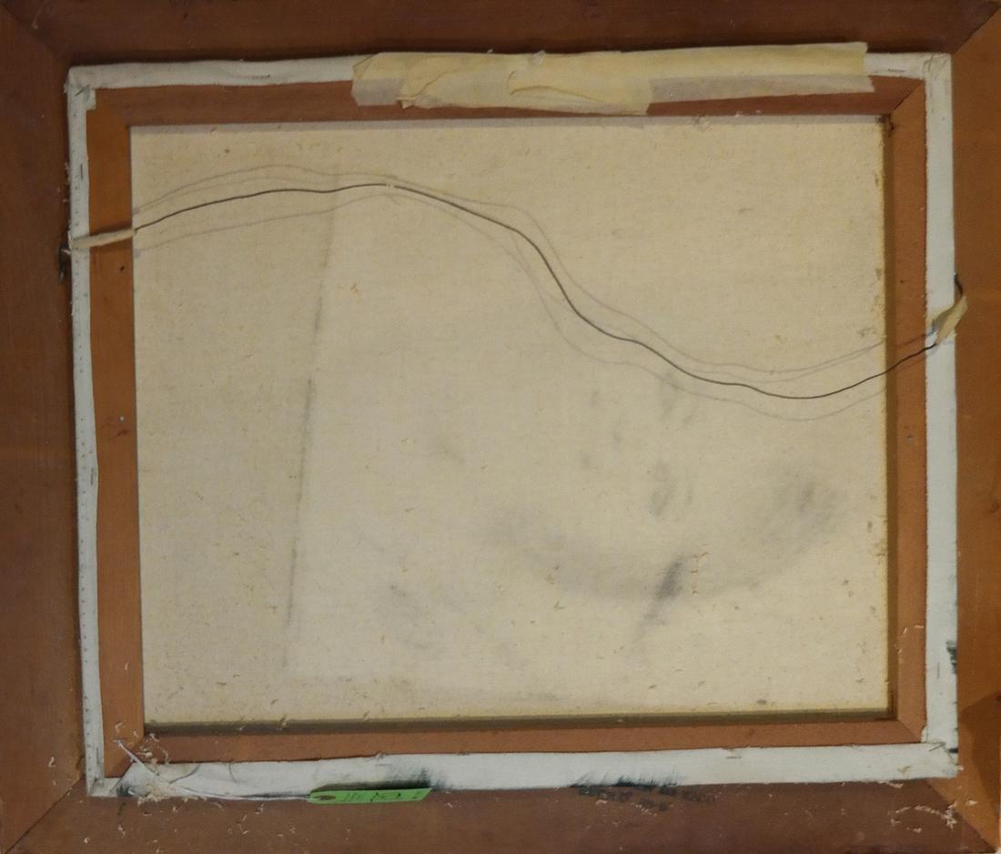 Acrylic on Canvas - A Sea Captain - Carved Wood Frame - 5