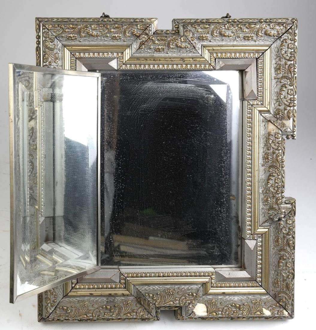 Victorian Convertible Tabletop Mirror and Print - 3