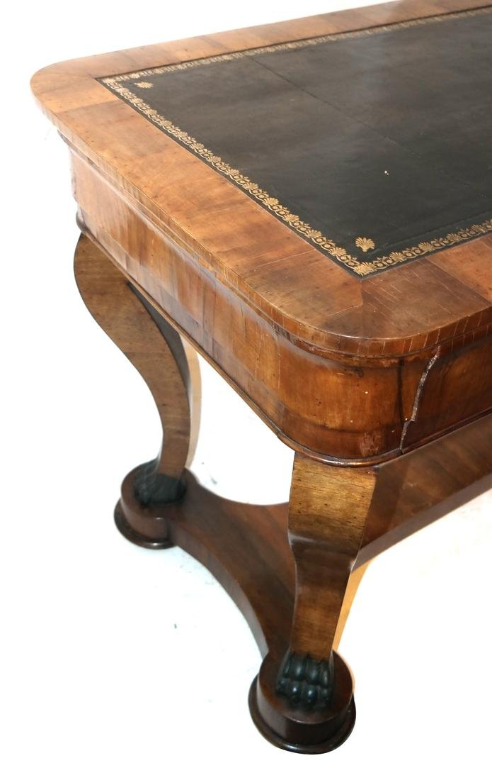 Classical Style Leather Top Desk - 6