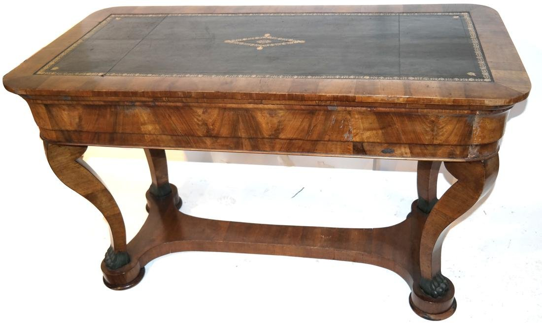 Classical Style Leather Top Desk - 8