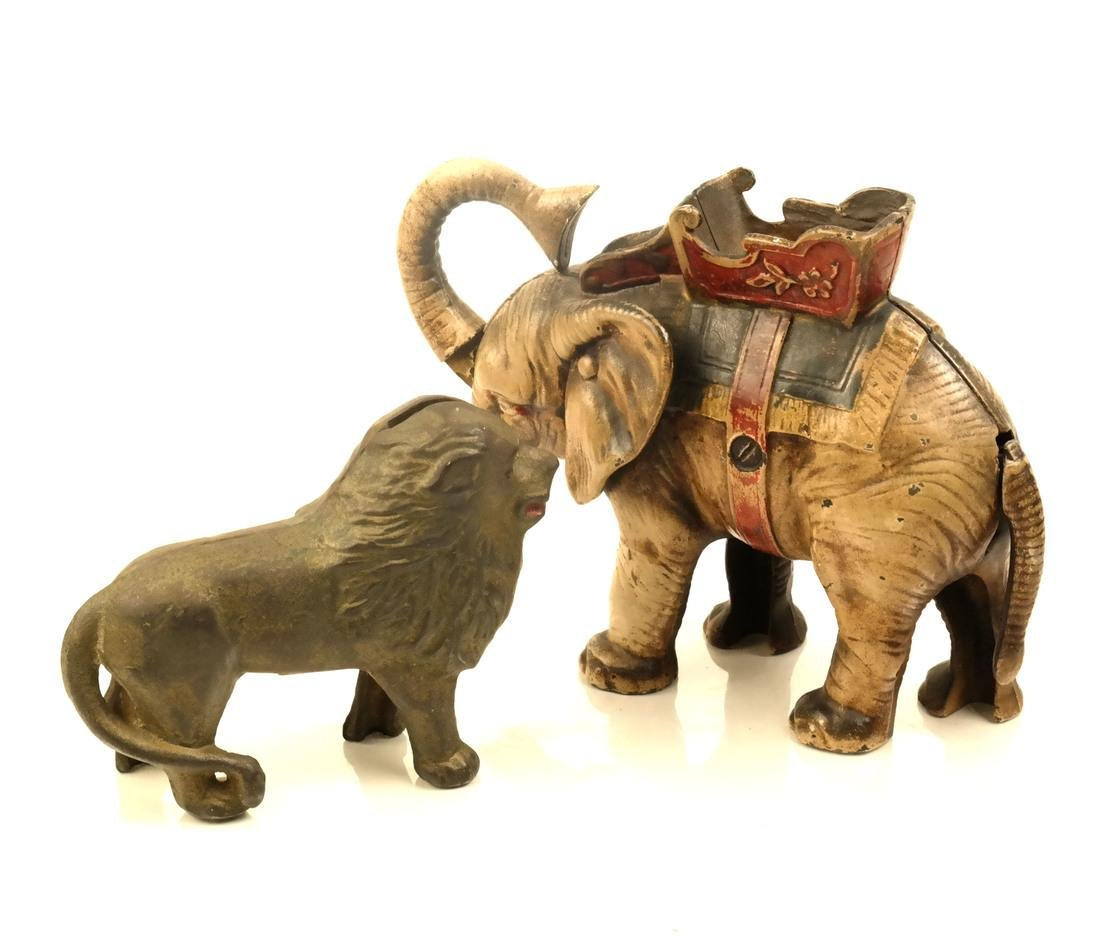Two Banks: Elephant and Lion