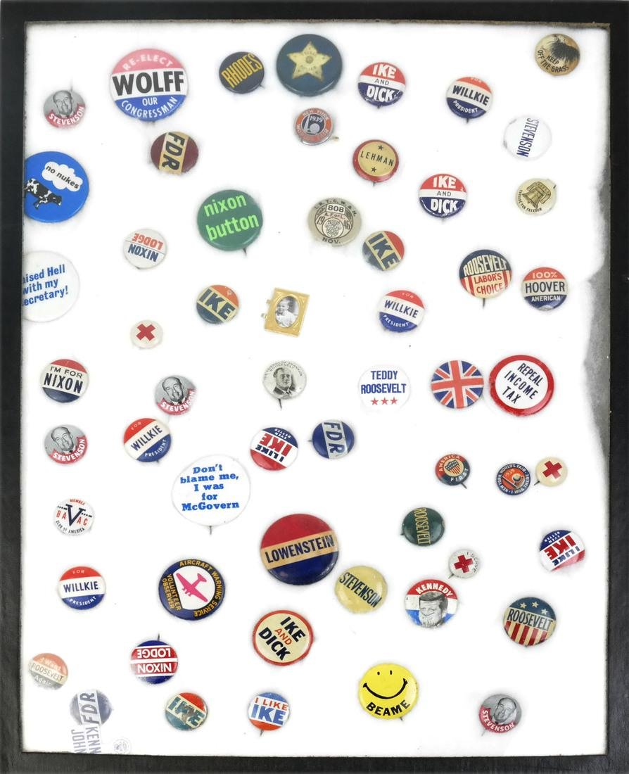 Collection of Political Buttons