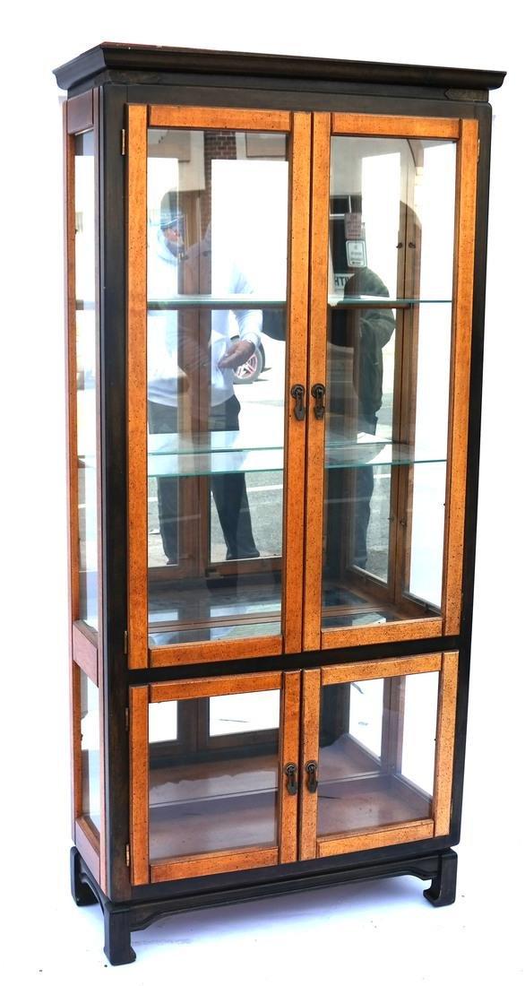 Contemporary Two-Tone Display Cabinet Vitrine